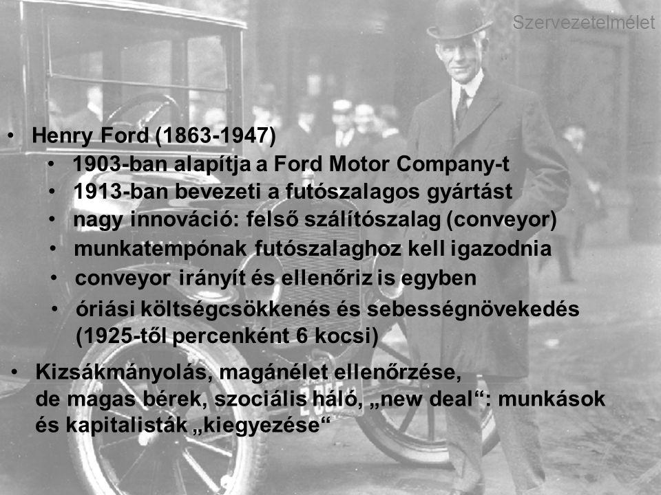 1903-ban alapítja a Ford Motor Company-t