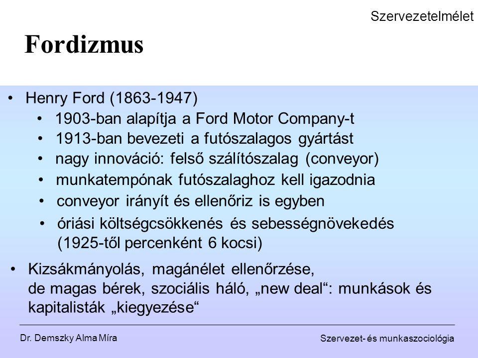 Fordizmus Henry Ford (1863-1947)