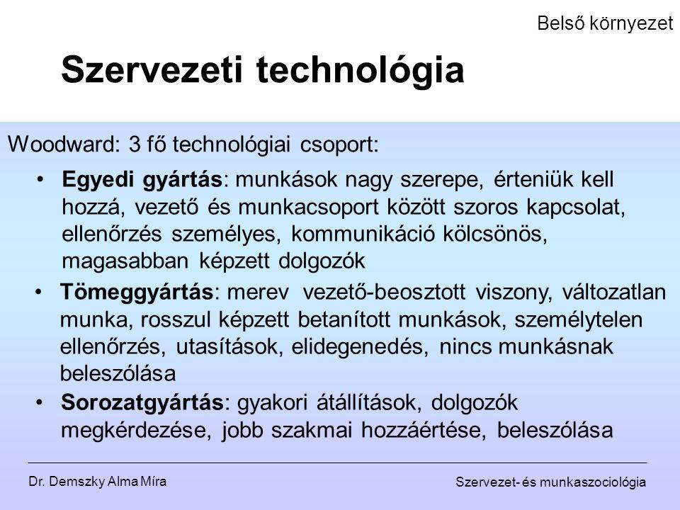 Szervezeti technológia