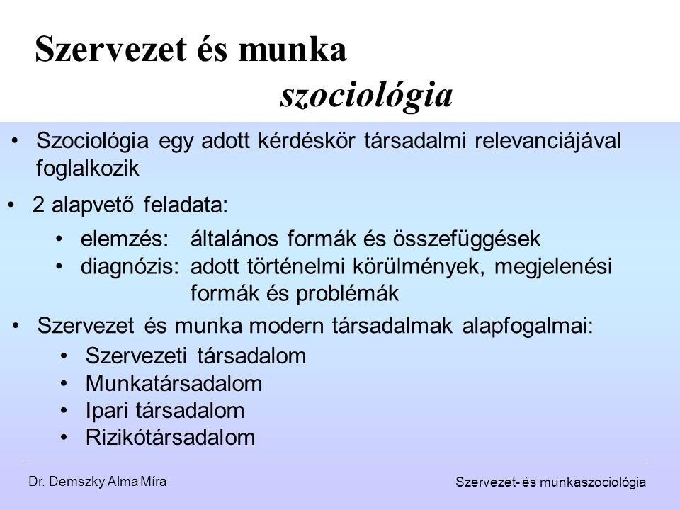 Szervezet és munka szociológia