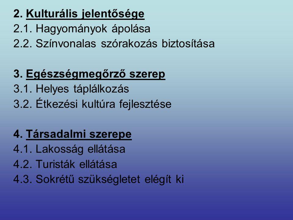 2. Kulturális jelentősége