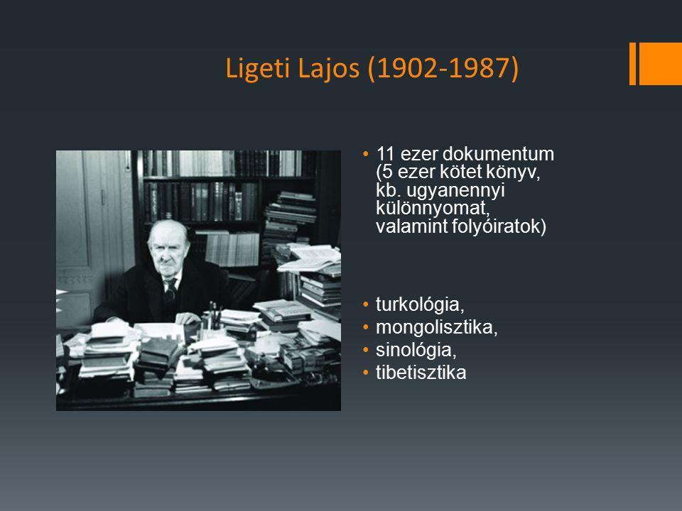 Ligeti Lajos (1902-1987) 11 ezer dokumentum (5 ezer kötet könyv, kb. ugyanennyi különnyomat, valamint folyóiratok)