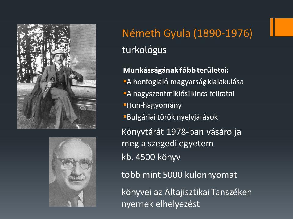 Németh Gyula (1890-1976) turkológus