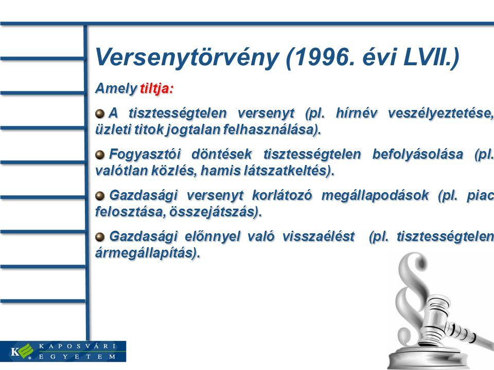 Versenytörvény (1996. évi LVII.)