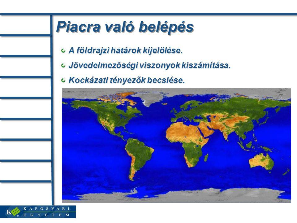 Piacra való belépés A földrajzi határok kijelölése.