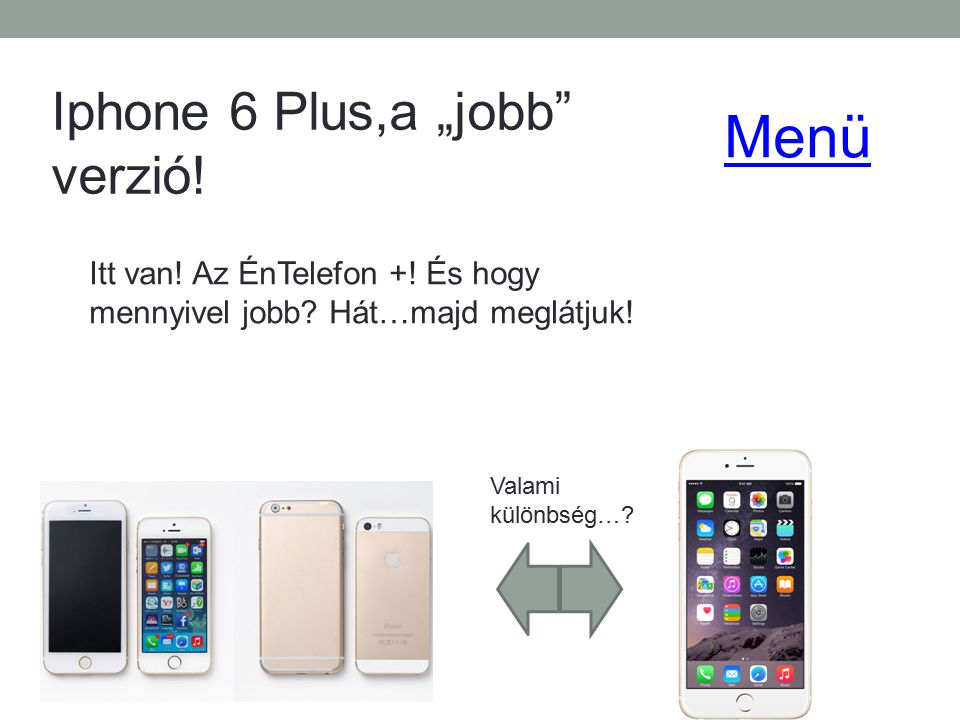 "Menü Iphone 6 Plus,a ""jobb verzió!"