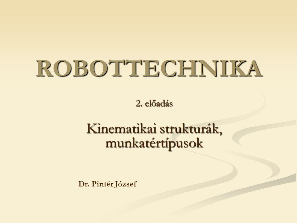 2. előadás Kinematikai strukturák, munkatértípusok