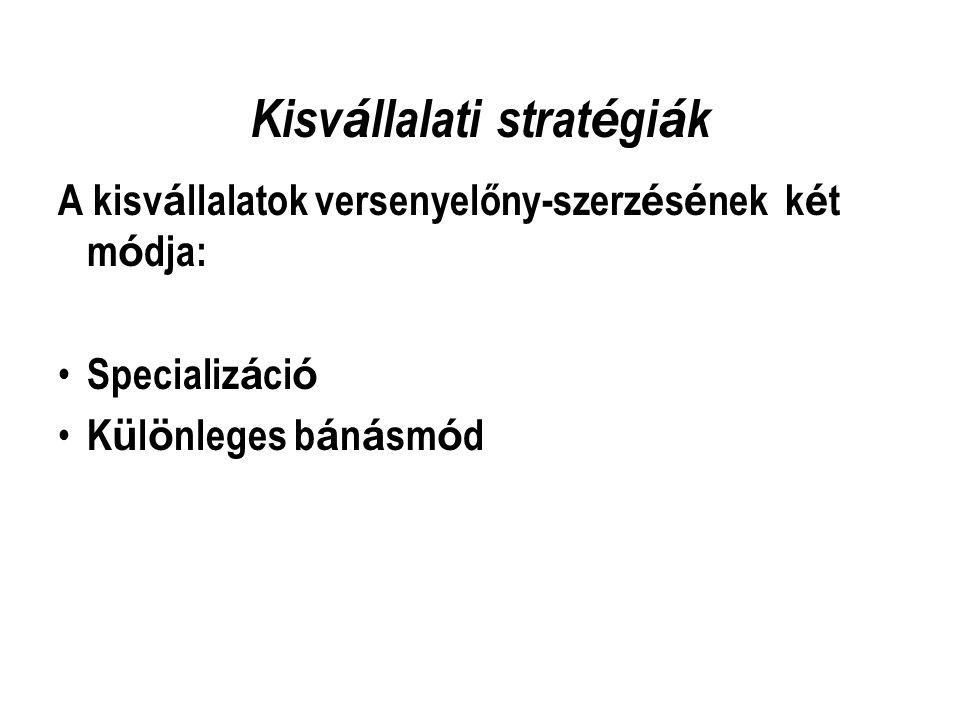 Kisvállalati stratégiák
