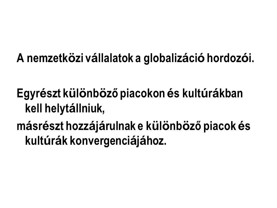A nemzetközi vállalatok speciális helyzete