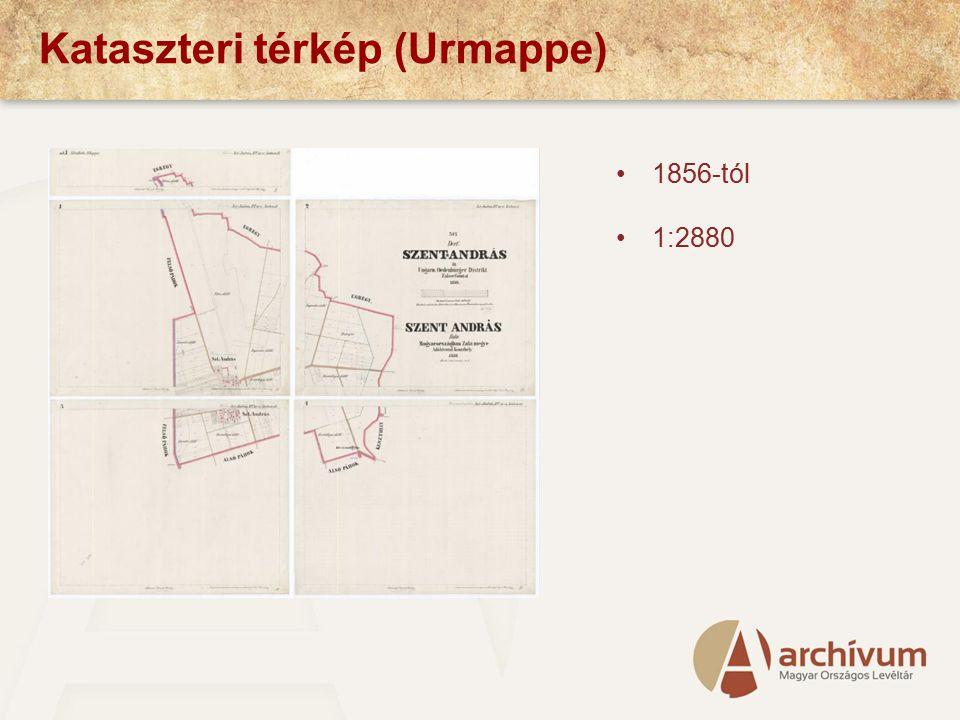 Kataszteri térkép (Urmappe)