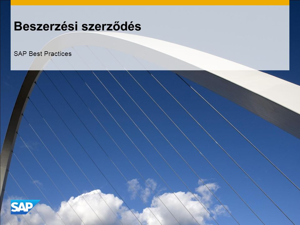Beszerzési szerződés SAP Best Practices