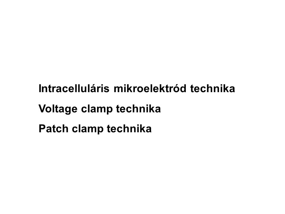 Intracelluláris mikroelektród technika