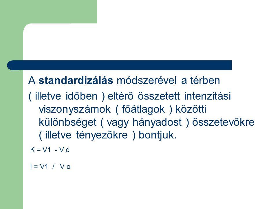 A standardizálás módszerével a térben