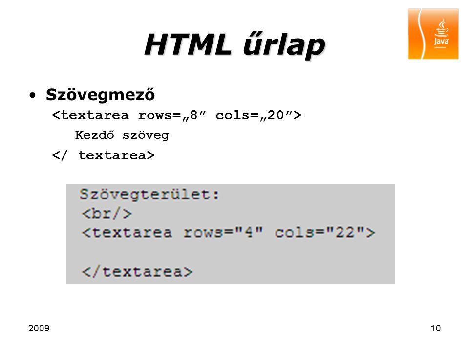 """HTML űrlap Szövegmező <textarea rows=""""8 cols=""""20 >"""