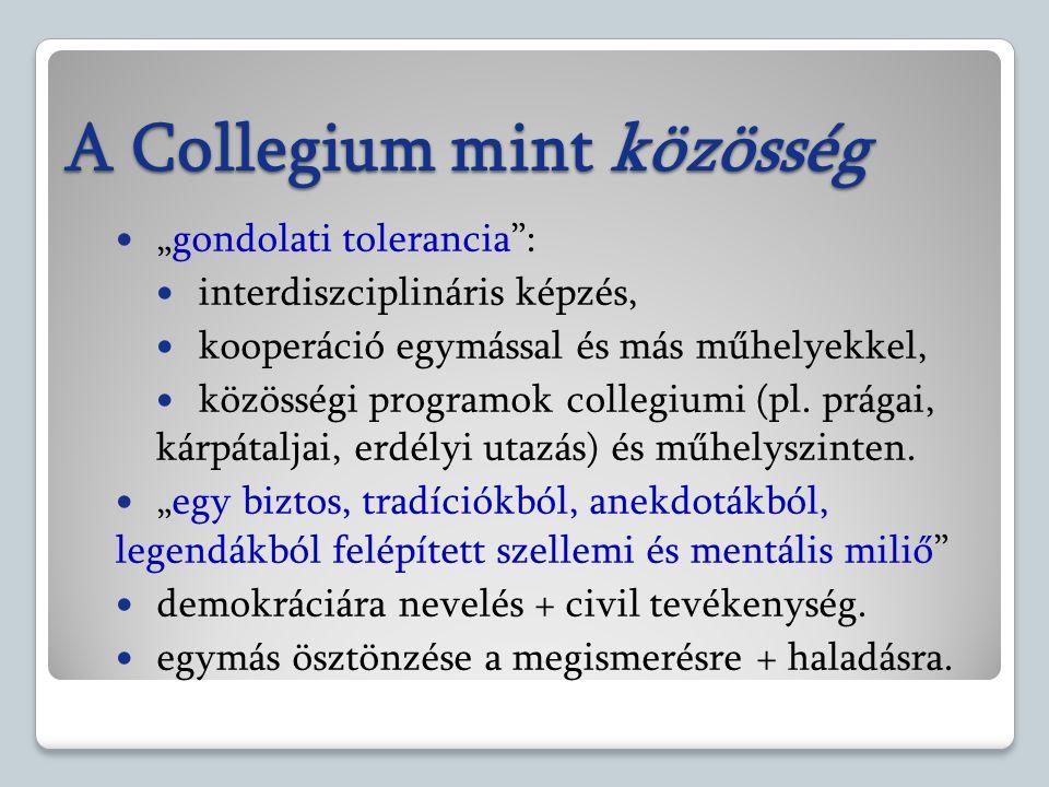 A Collegium mint közösség
