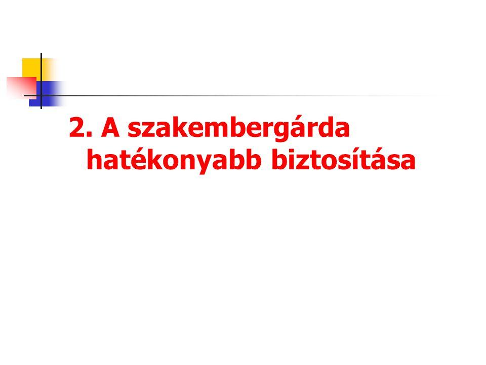 2. A szakembergárda hatékonyabb biztosítása