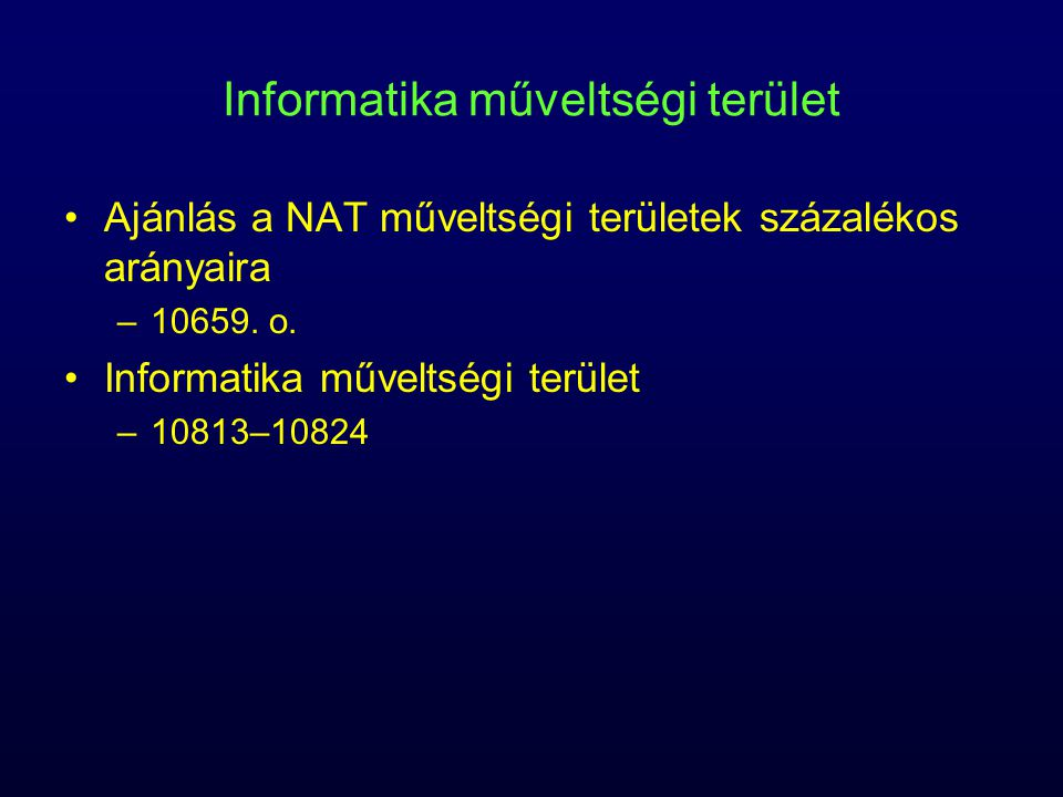 Informatika műveltségi terület