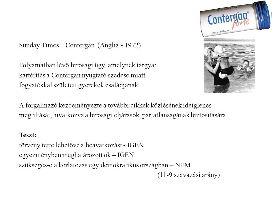Sunday Times – Contergan (Anglia - 1972)