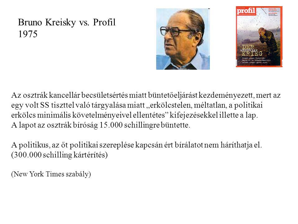Bruno Kreisky vs. Profil 1975