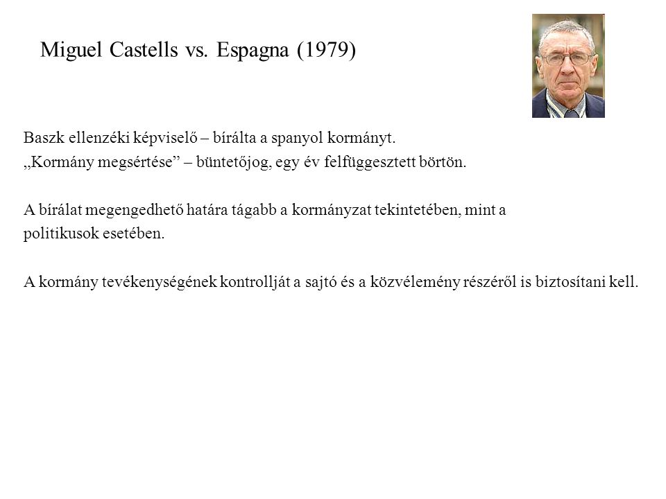 Miguel Castells vs. Espagna (1979)