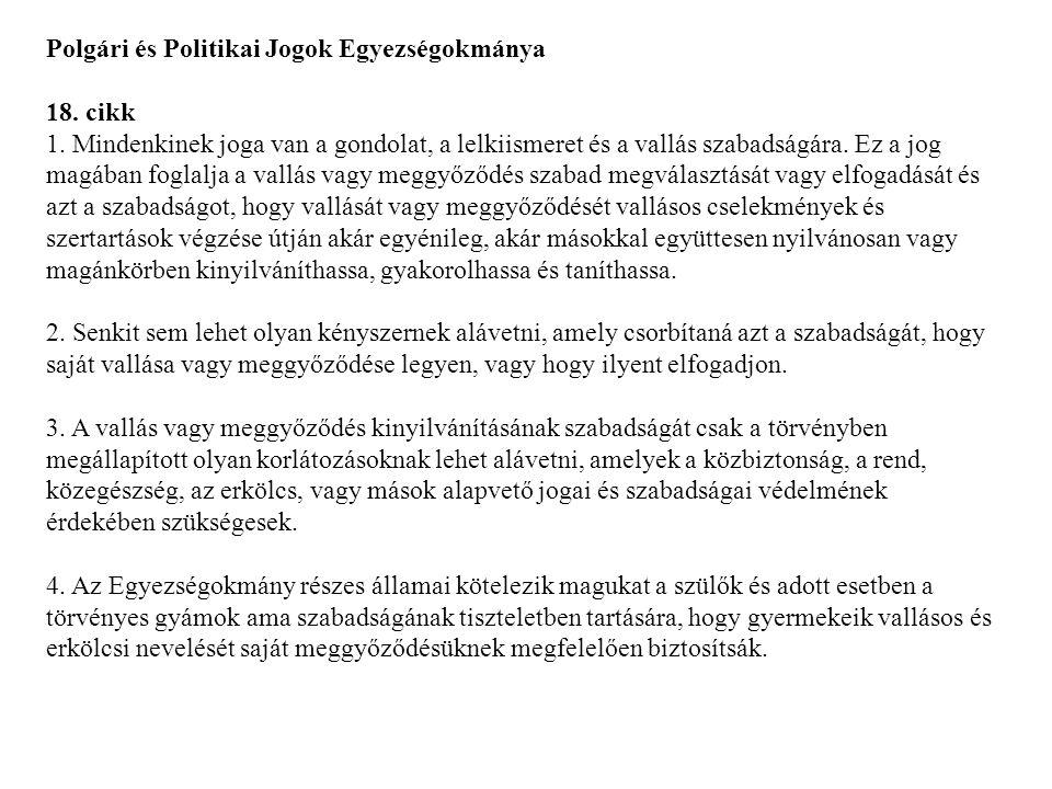 Polgári és Politikai Jogok Egyezségokmánya