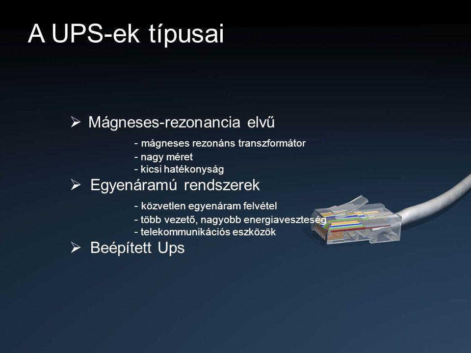 A UPS-ek típusai Mágneses-rezonancia elvű