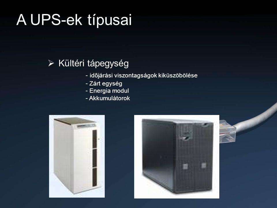 A UPS-ek típusai Kültéri tápegység