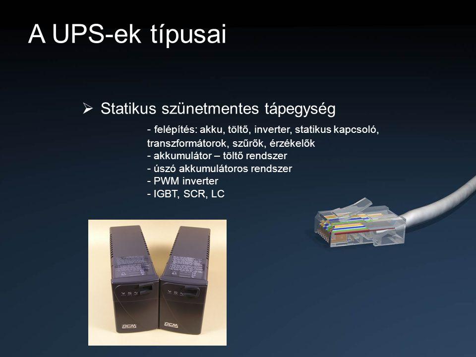 A UPS-ek típusai Statikus szünetmentes tápegység