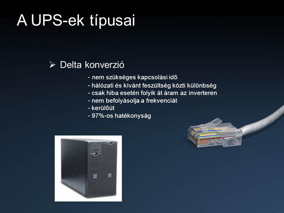 A UPS-ek típusai Delta konverzió - nem szükséges kapcsolási idő