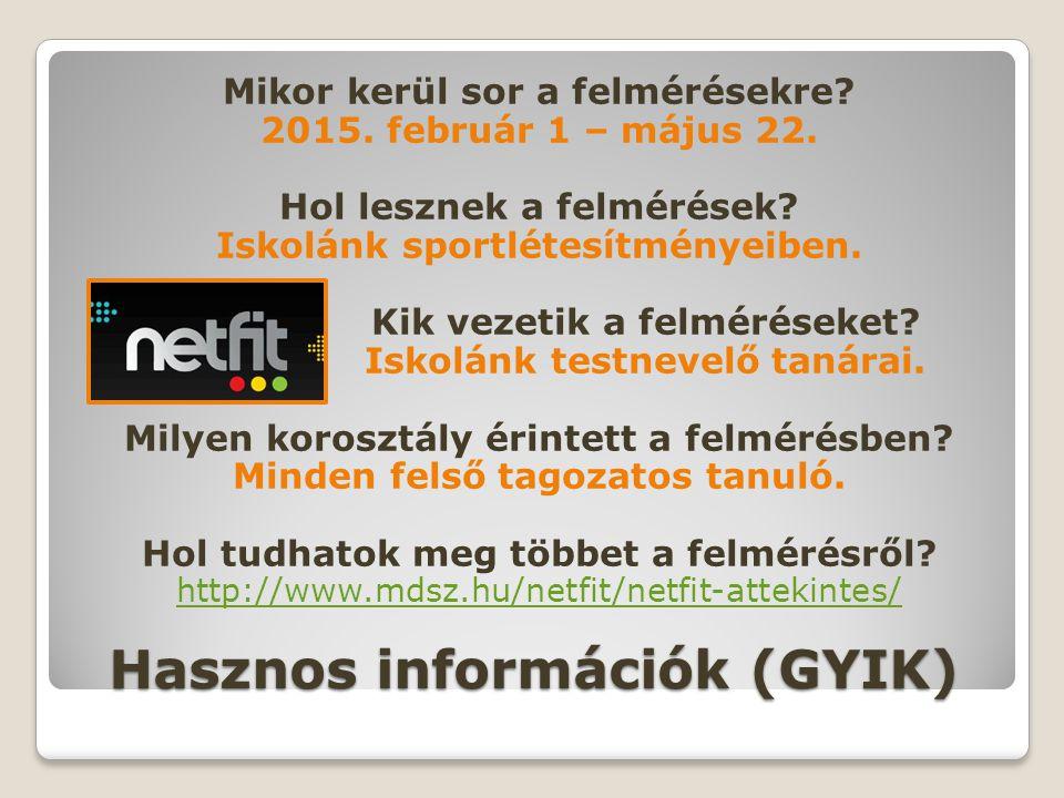 Hasznos információk (GYIK)