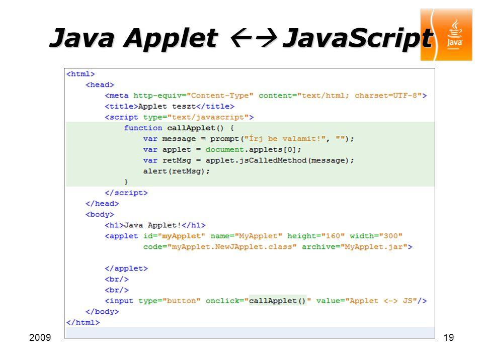 Java Applet  JavaScript