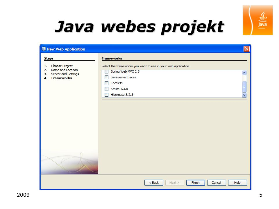 Java webes projekt 2009