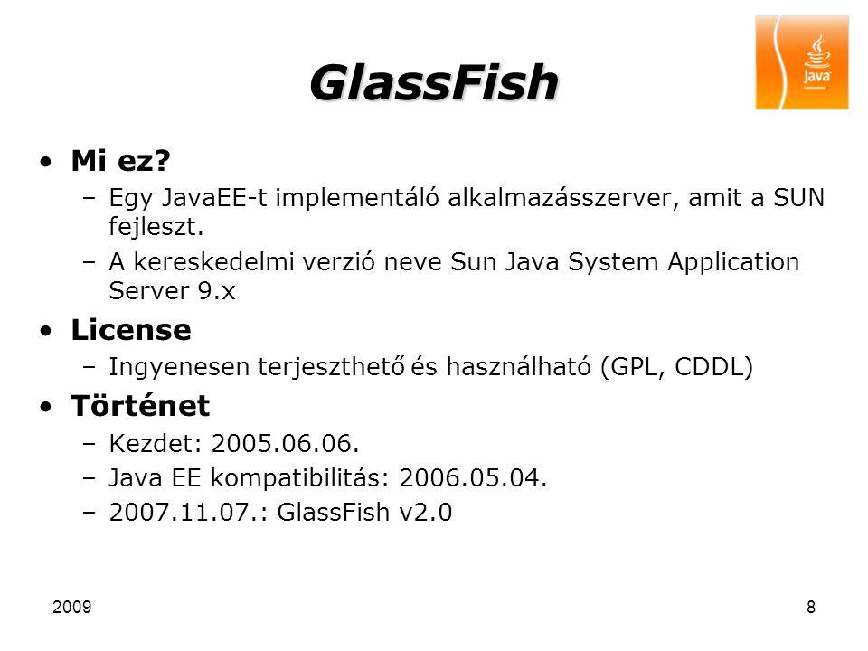 GlassFish Mi ez License Történet