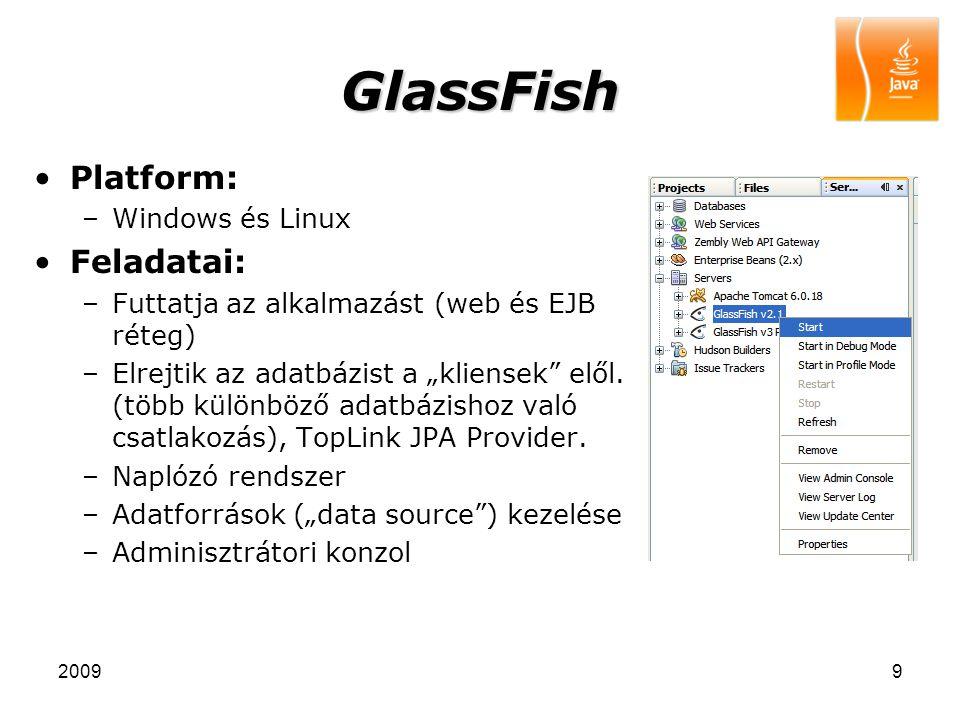 GlassFish Platform: Feladatai: Windows és Linux