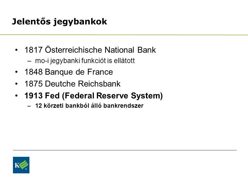 1817 Österreichische National Bank 1848 Banque de France