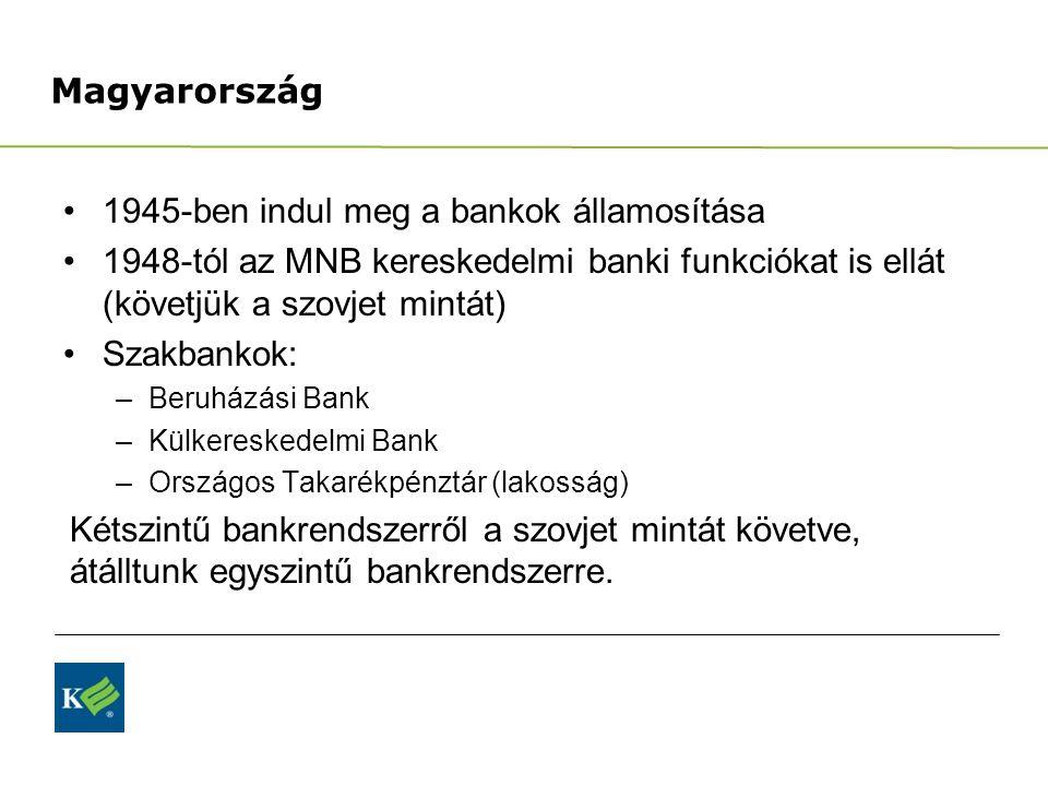 1945-ben indul meg a bankok államosítása