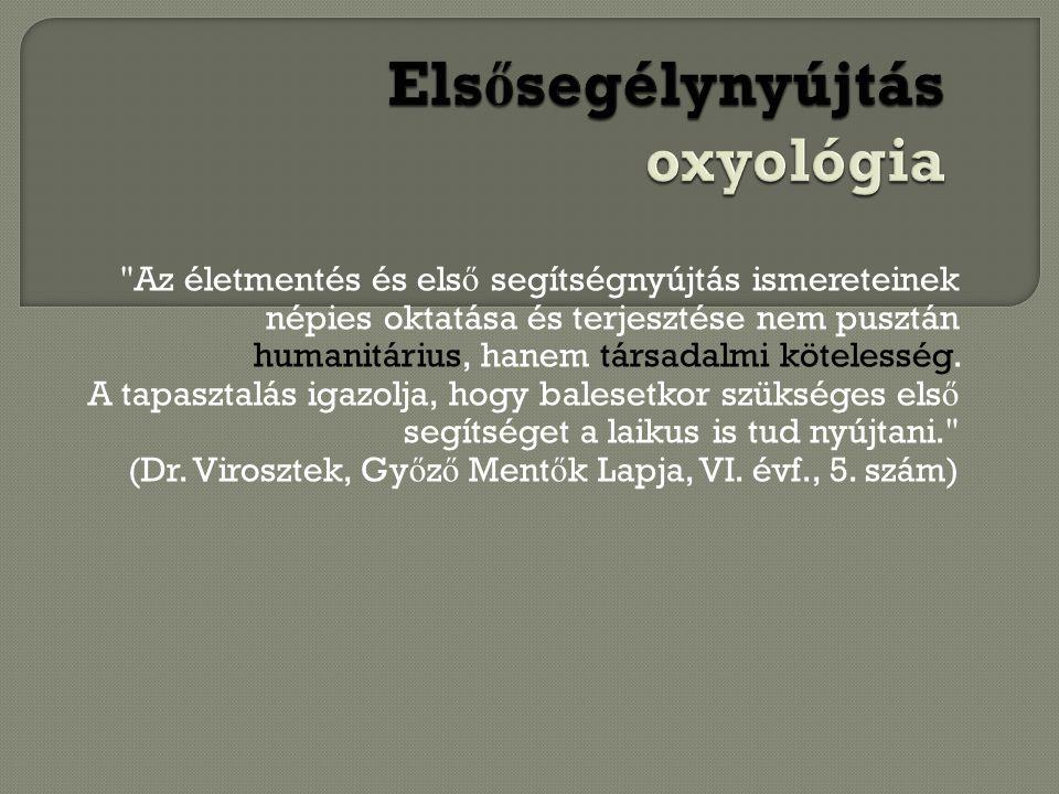 Elsősegélynyújtás oxyológia