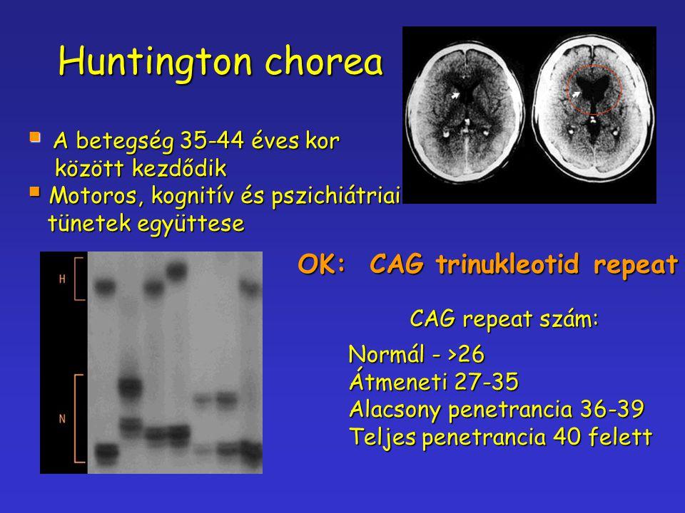 Huntington chorea OK: CAG trinukleotid repeat