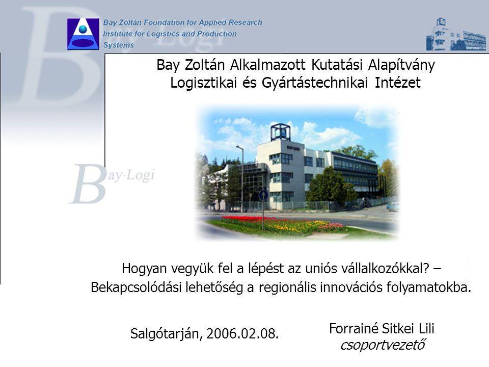 Bay Zoltán Alkalmazott Kutatási Alapítvány