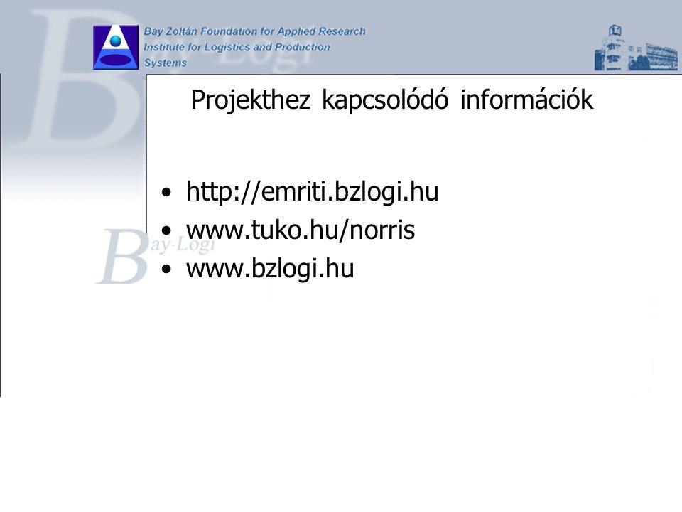 Projekthez kapcsolódó információk