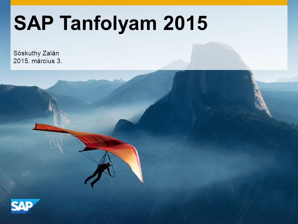 SAP Tanfolyam 2015 Sóskuthy Zalán 2015. március 3.