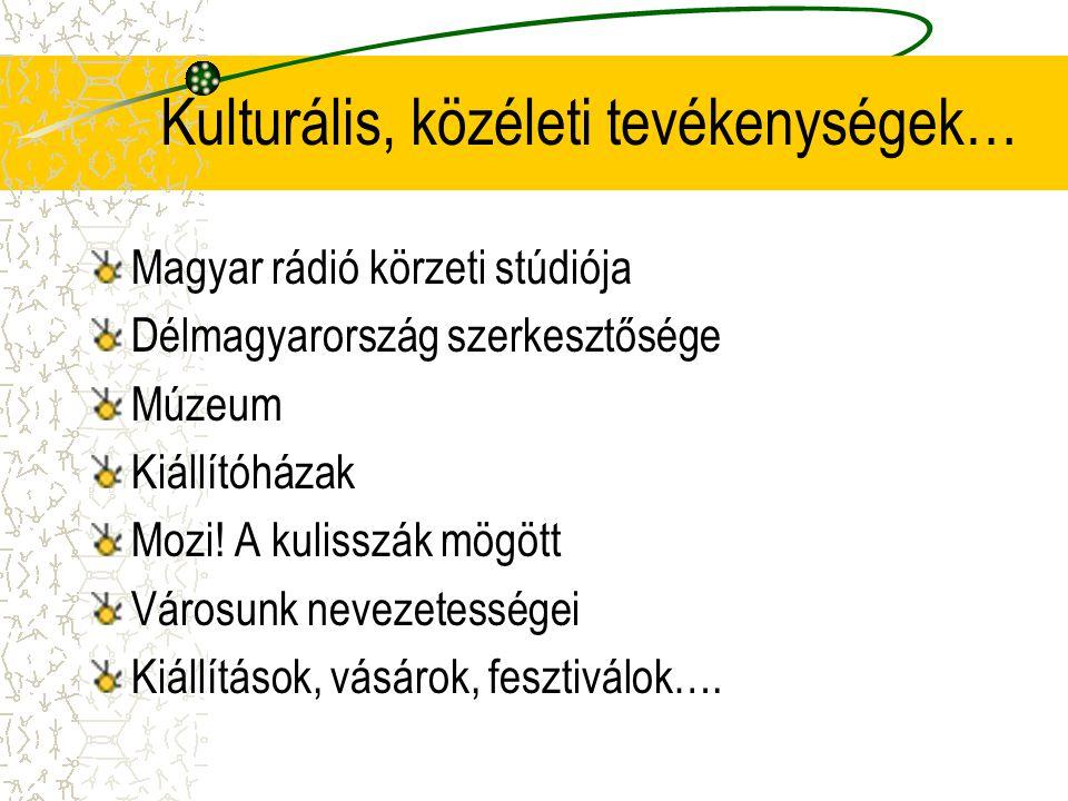 Kulturális, közéleti tevékenységek…