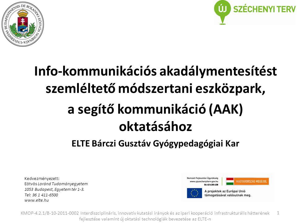 a segítő kommunikáció (AAK) oktatásához
