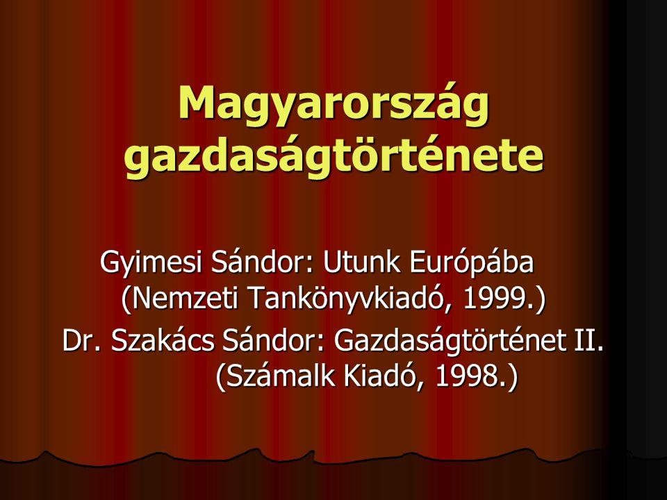 Magyarország gazdaságtörténete