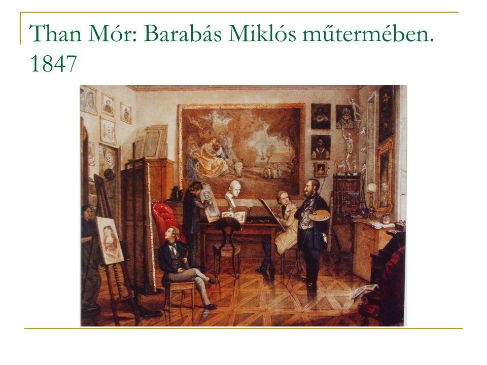 Than Mór: Barabás Miklós műtermében. 1847