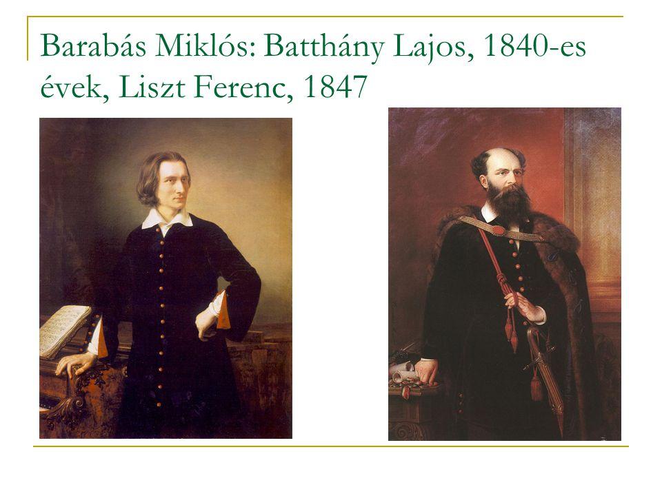 Barabás Miklós: Batthány Lajos, 1840-es évek, Liszt Ferenc, 1847
