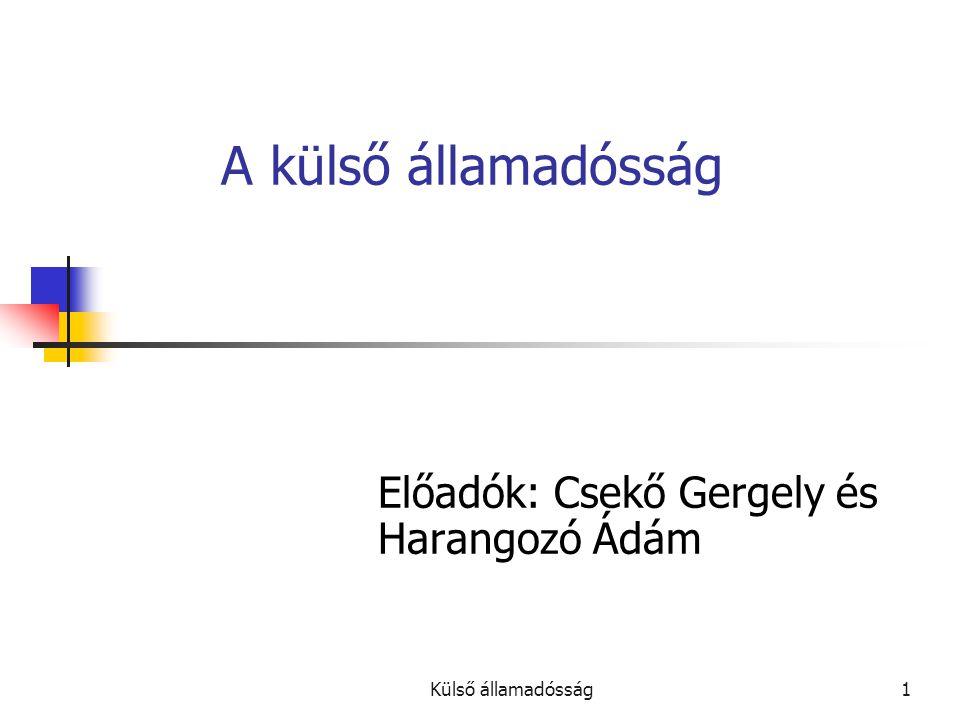 Előadók: Csekő Gergely és Harangozó Ádám