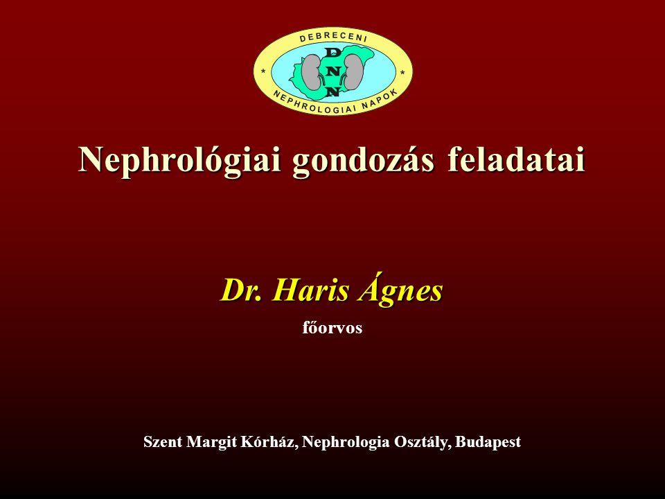 Nephrológiai gondozás feladatai