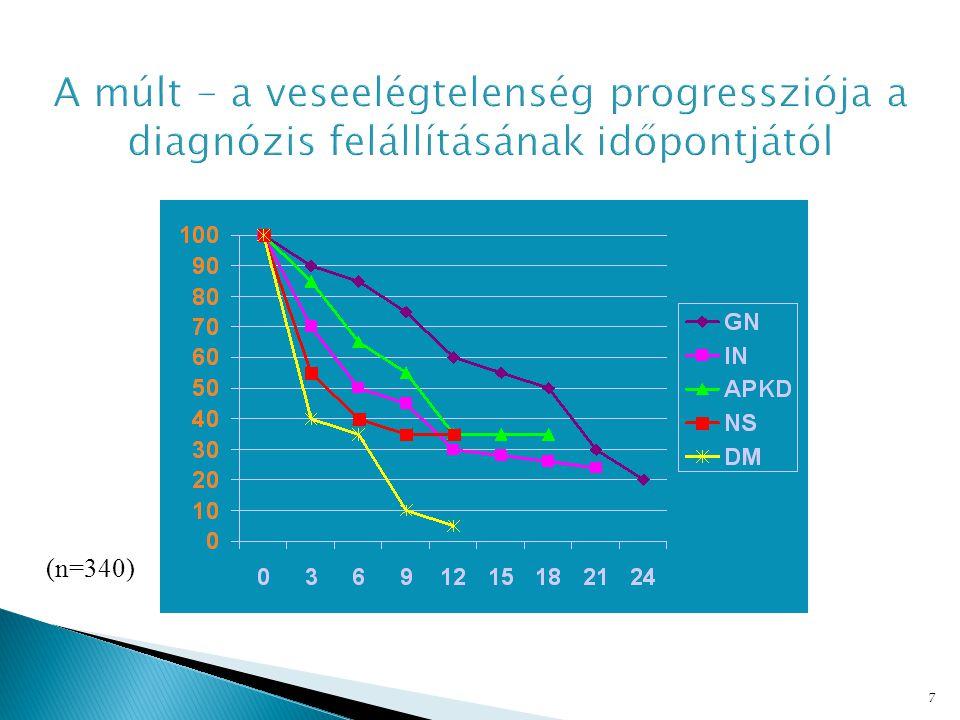 A múlt - a veseelégtelenség progressziója a diagnózis felállításának időpontjától