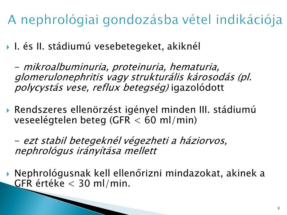 A nephrológiai gondozásba vétel indikációja